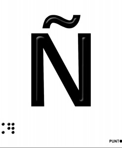 Letra Ñ en aluminio