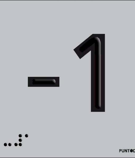 Número -1 en aluminio