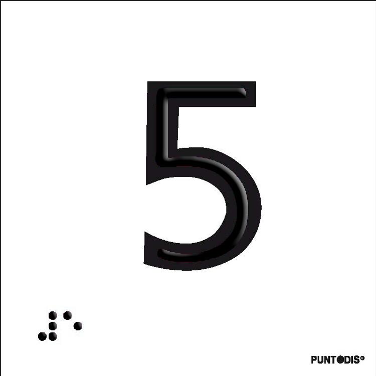 número 5 en aluminio puntodis