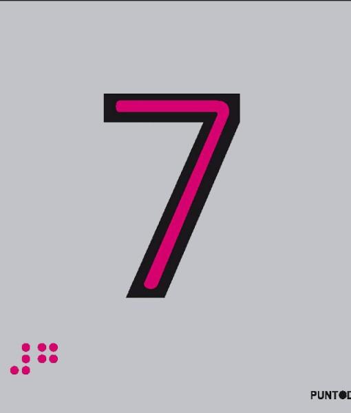 Número 7 en aluminio