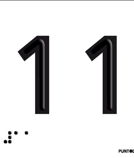 Número 11 en aluminio