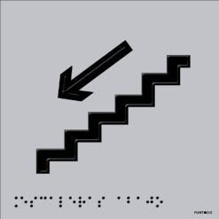 Pictograma escaleras abajo en aluminio