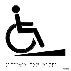 Placa Acceso rampa braille