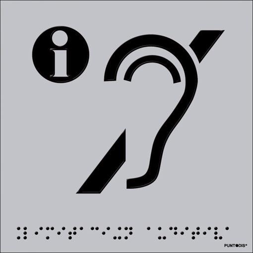 Pictograma limitación auditiva en aluminio