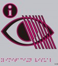 Pictograma limitación visual en aluminio