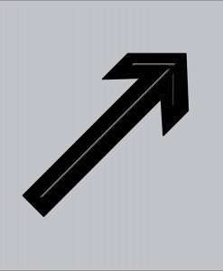 Pictograma flecha diagonal en aluminio