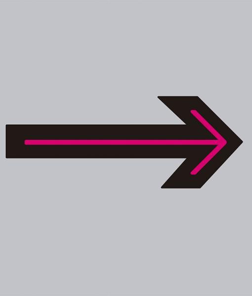 Pictograma flecha recta en aluminio