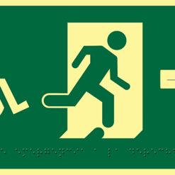 Salida a la derecha con silla de ruedas