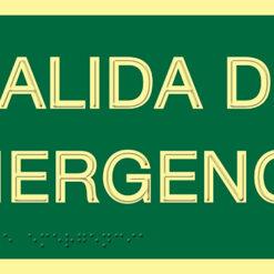 Señalización de Salida de emergencia en PVC