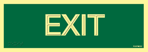 Señalización de Exit en PVC luminiscente