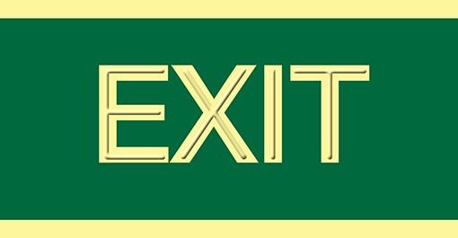 Señalización de Exit en PVC