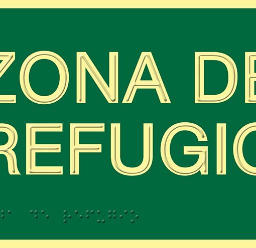 Señalización de Zona de refugio en PVC
