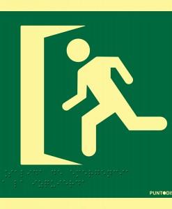 para indicar salida accesible