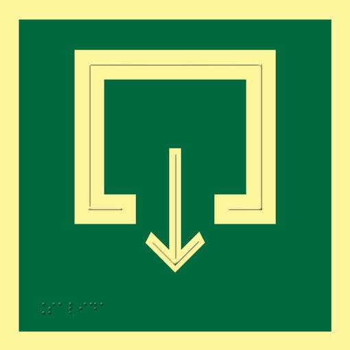 Pictograma señal emergencia y evacuación Salida Accesible luminiscente