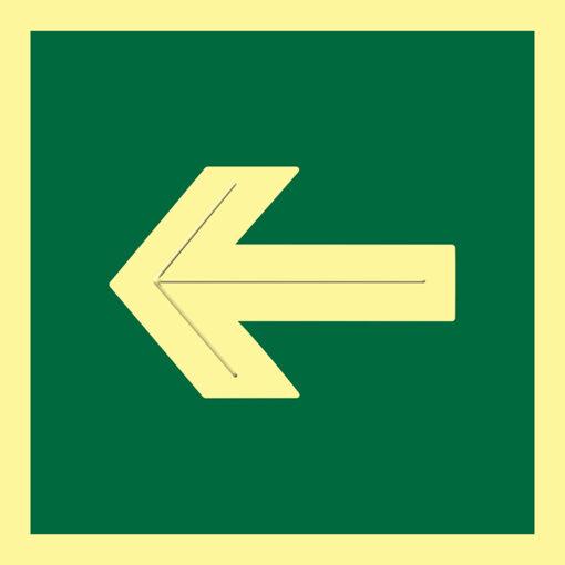 Placa fotoluminiscente flecha altorrelieve