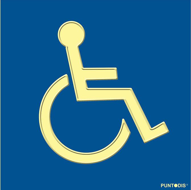 Placa fotoluminiscente SIA braille