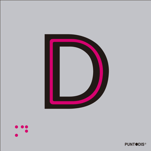 Letra D en aluminio
