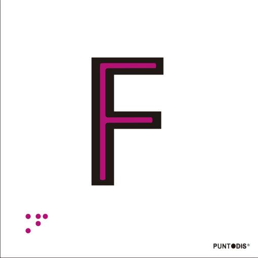 Letra F en aluminio