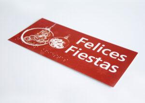 Pack de Felicitaciones Navideñas accesibles - Tarjeta individual