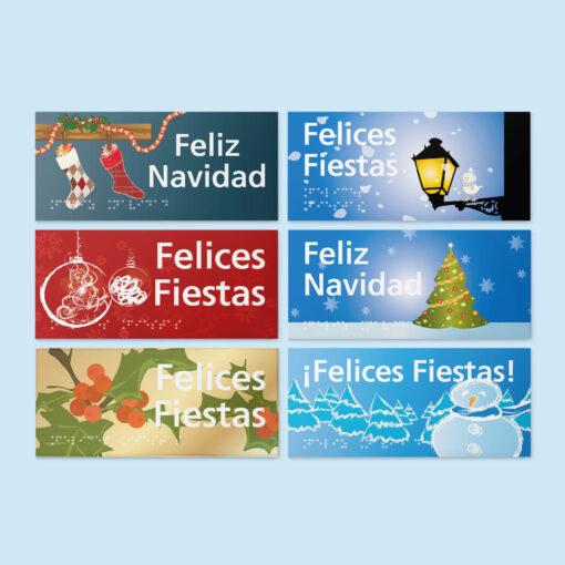 Pack de Felicitaciones Navideñas accesibles - Contenido del Pack