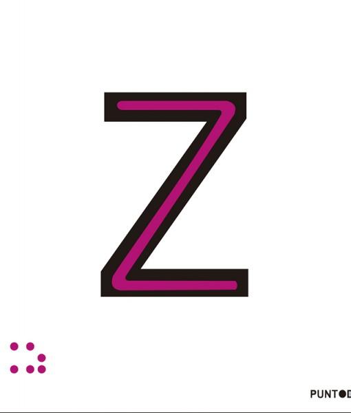 Letra Z en aluminio