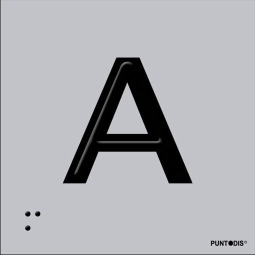 Letra A en aluminio
