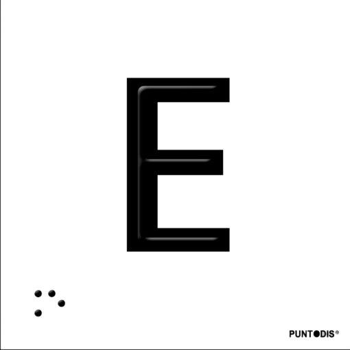 Letra E en aluminio