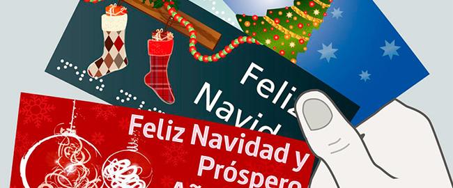 Felicitaciones navideñas accesibles