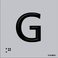 Letra G en aluminio