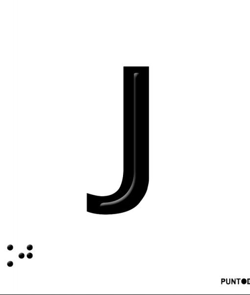 Letra J en aluminio
