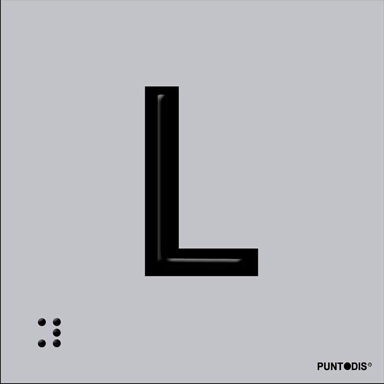 Letra L en aluminio