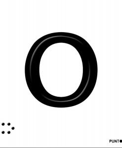 Letra O en aluminio
