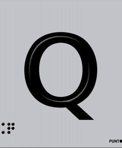 Letra Q en aluminio