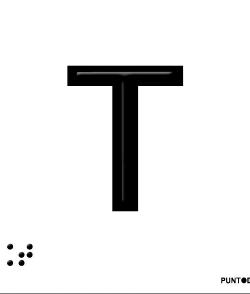 Letra T en aluminio