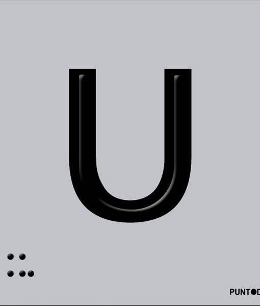 Letra U en aluminio