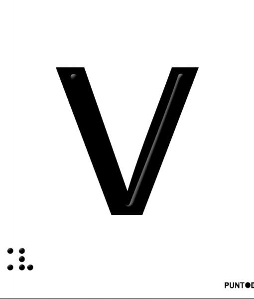 Letra V  en aluminio