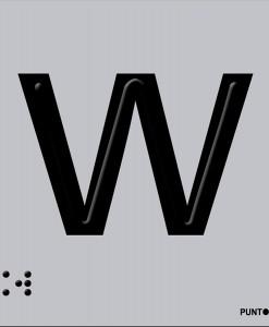 Letra W en aluminio