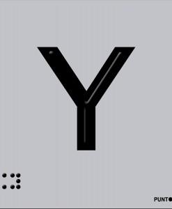Letra Y en aluminio