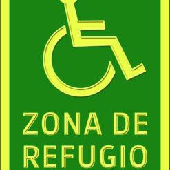rótulo con braille zona de refugio