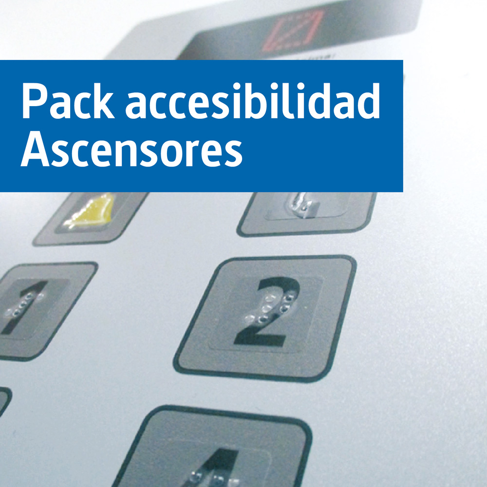 Pack vinilos en braille para Ascensores