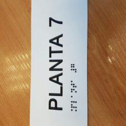 Rótulos planta braille