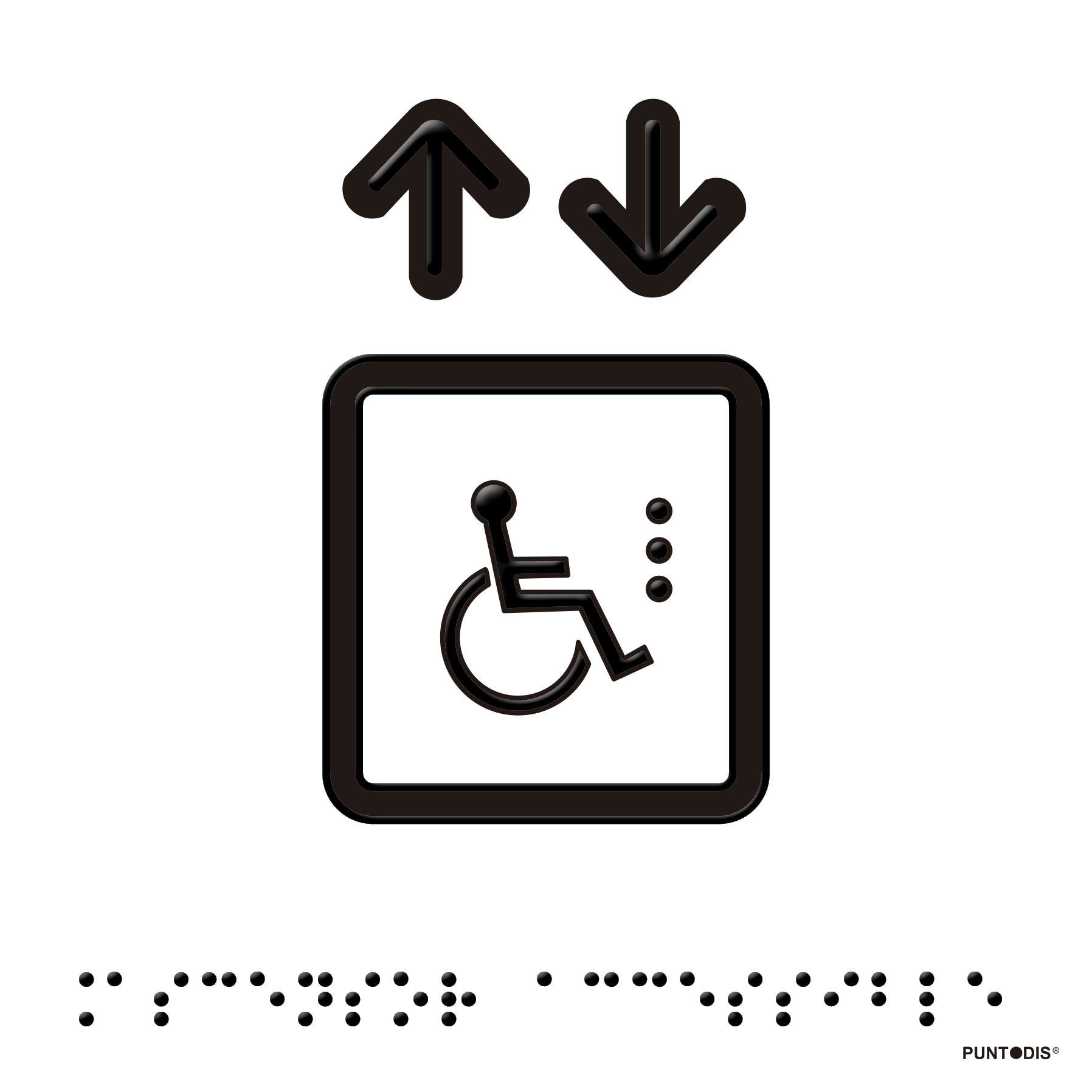 placa ascensor accesible braille