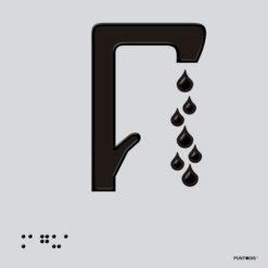 Placa edificación Agua braille