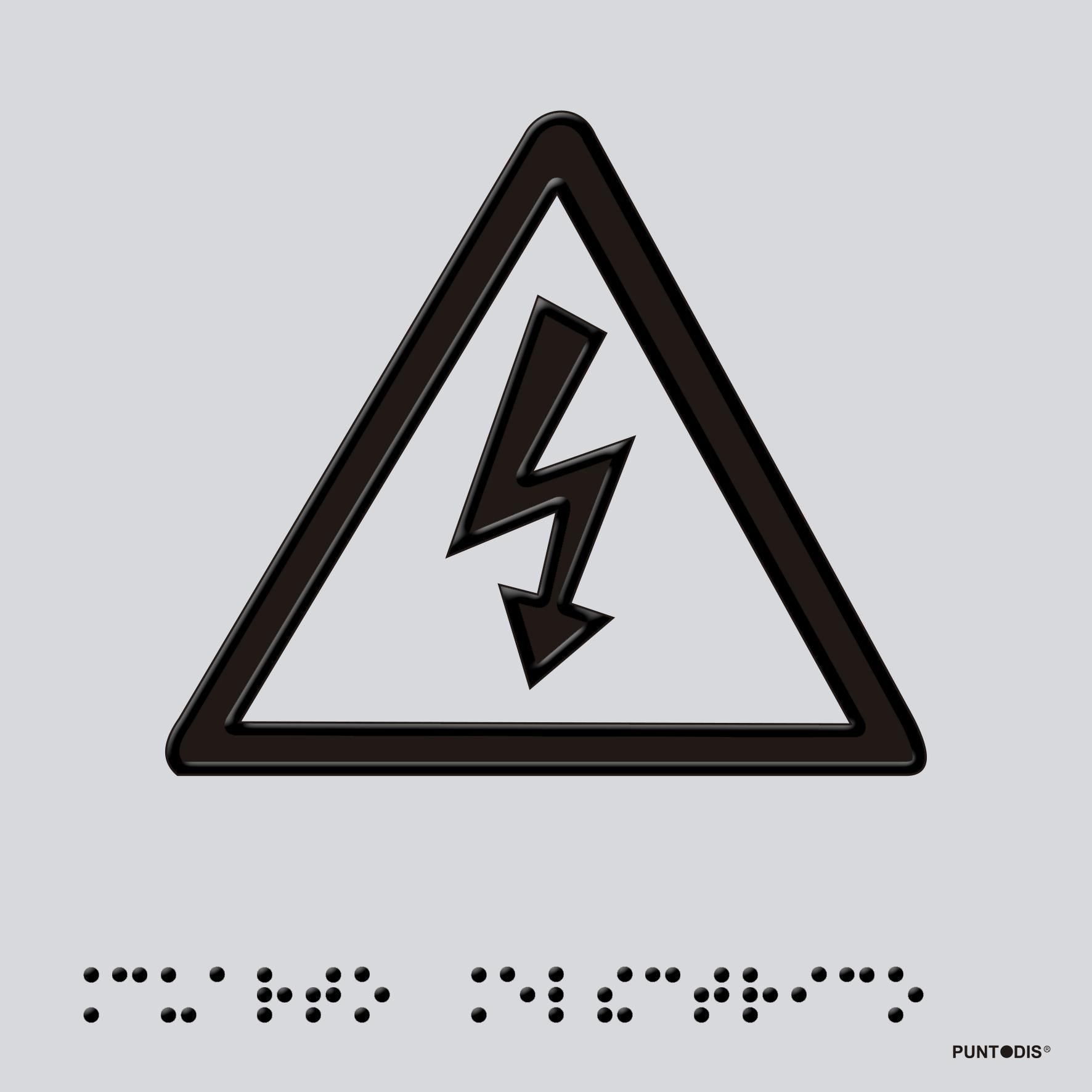 Placa Cuadro Eléctrico braille
