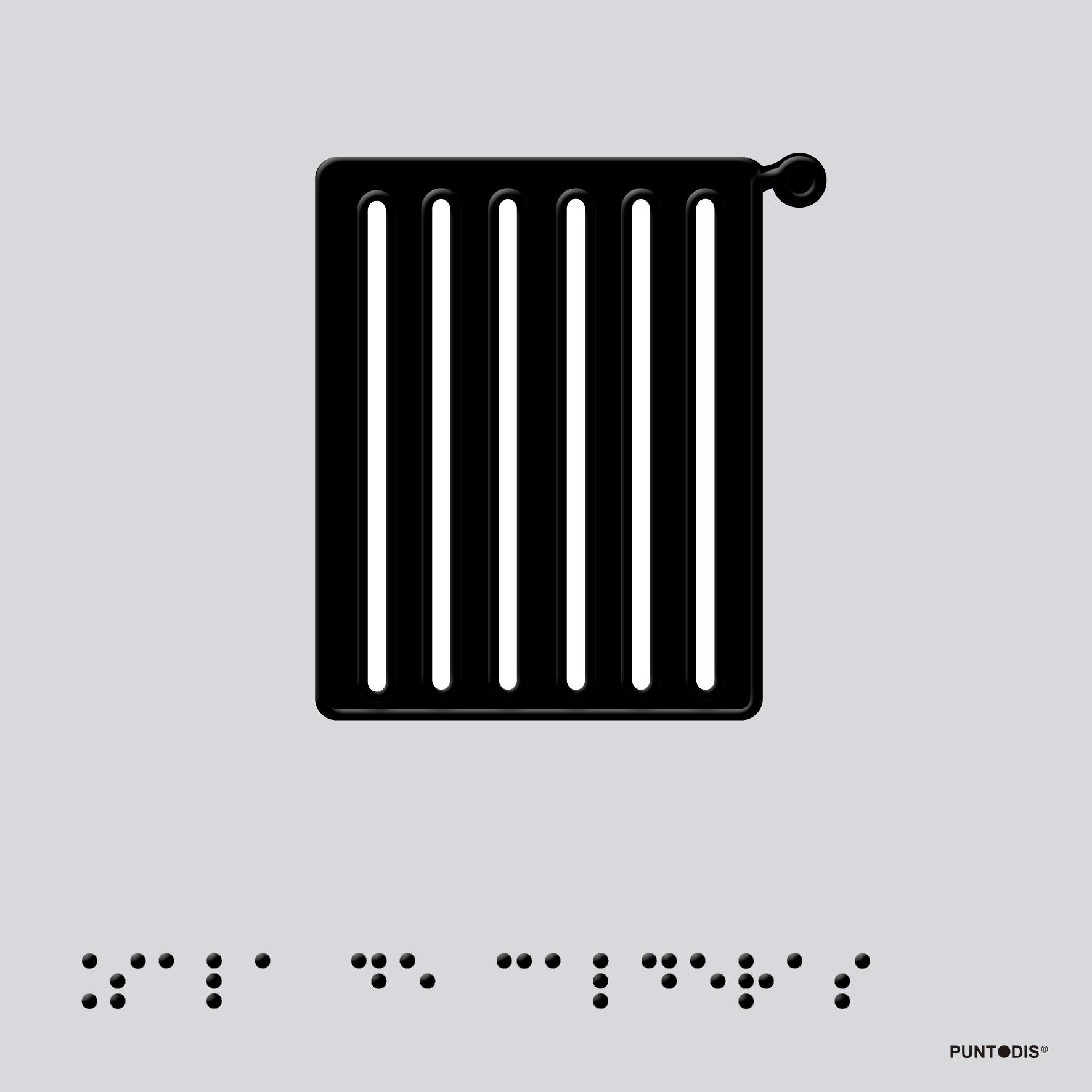 Placa Sala Calderas braille