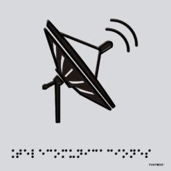 Placa edificación Telecomunicaciones braille