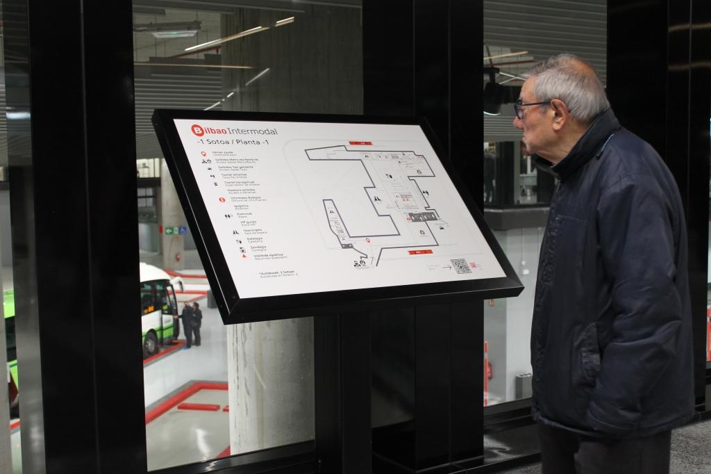 Mapa accesible de la terminal