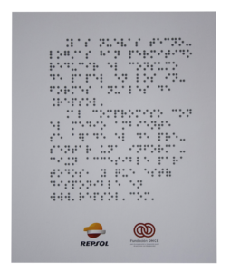 Documento repsol con braille