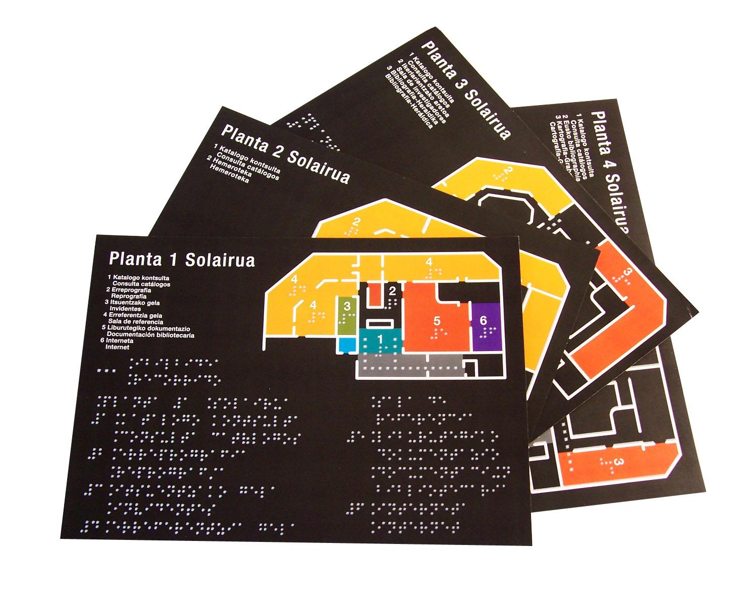 Planos y paneles braille