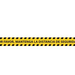 Vinilo adhesivo para suelo mantener distancia de seguridad